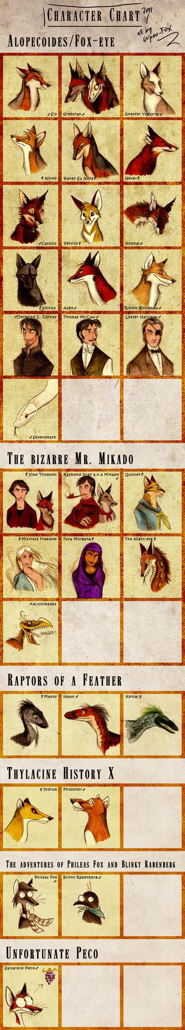 Character Chart by Culpeo-Fox