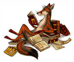 The Reader by Culpeo-Fox
