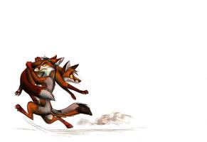 Foxnapping by Culpeo-Fox