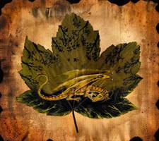 Leaf Painting: Sleeping Dragon by Culpeo-Fox