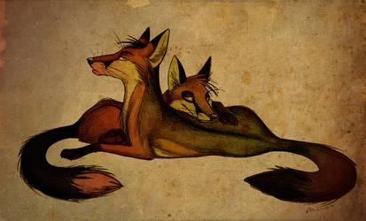 The arrogance in their eyes by Culpeo-Fox