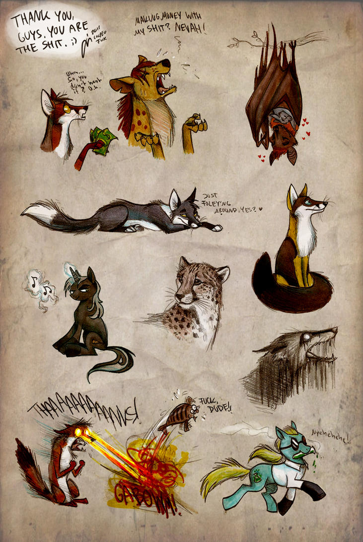 Scribble Gift Dump by Culpeo-Fox