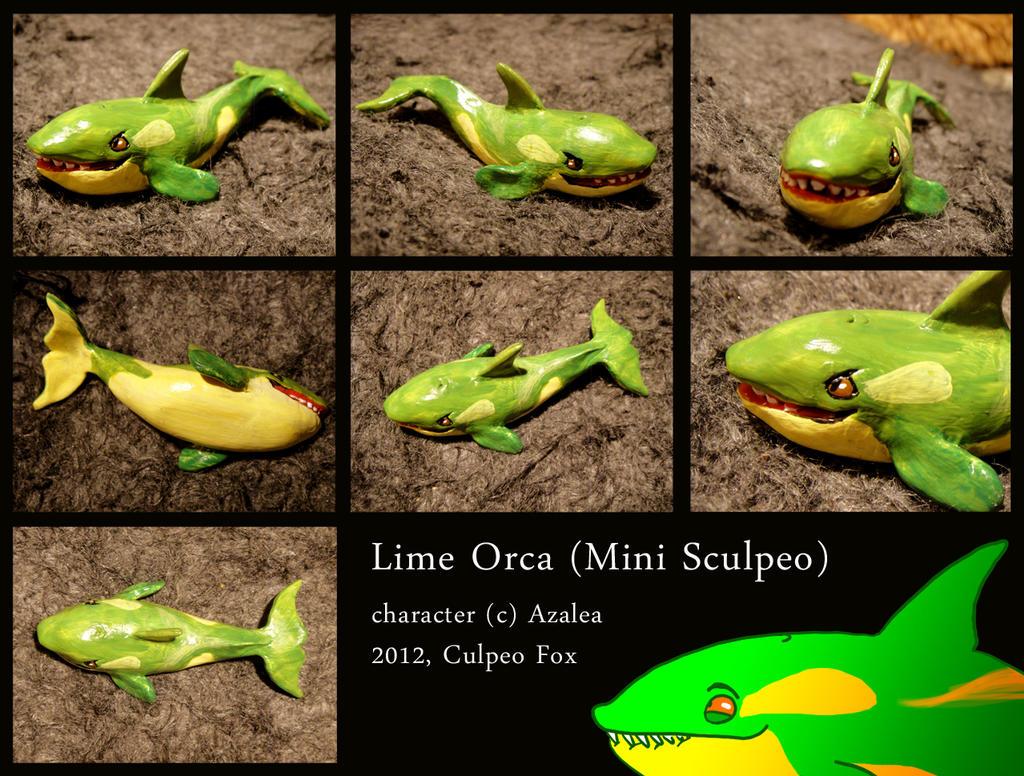 Mini Sculpeo Lime Orca by Culpeo-Fox