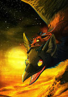 Riding The Corfawx by Culpeo-Fox