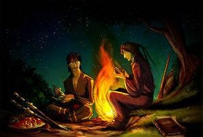 Camp Fire by Culpeo-Fox