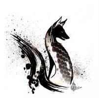 White Ground Black Brush by Culpeo-Fox