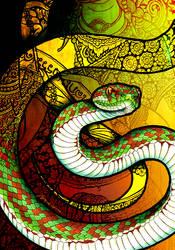 Beautiful Pit Viper by Culpeo-Fox