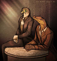 Falco e Pitone