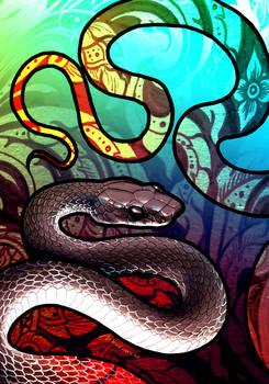 Dark Wolf Snake