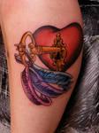 custom heart and key