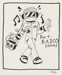 Inktober Day 4: RADIO(active)