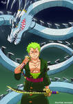 Zoro but with Kaido's Devil Fruit [One Piece] by TheArtistMouse