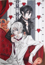 Kiss of Rose Princess: Mitsuru and Mutsuki by Indigoblau