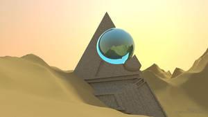 Science Fiction Desert Scene Desktop
