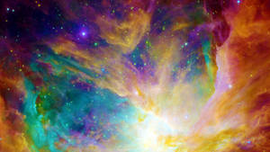 Rainbow Nebula Wallpaper by Dr-Pen
