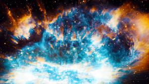 Stark Blue Nebula - Wallpaper by Dr-Pen