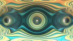 Gold and Aqua Rings da Wallpaper