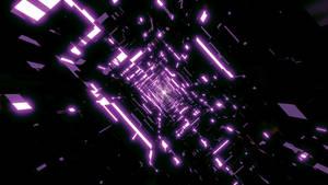 Dark Purple Tunnel Wallpaper