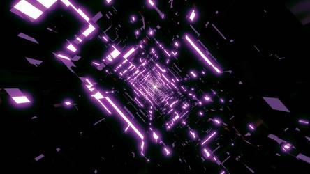 Dark Purple Tunnel Wallpaper by Dr-Pen
