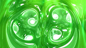 Daily Fractal Wallpaper no11 - Emerald Waves by Dr-Pen