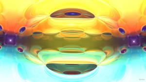 Daily Fractal Wallpaper no12 - Spectrum Tunnel by Dr-Pen