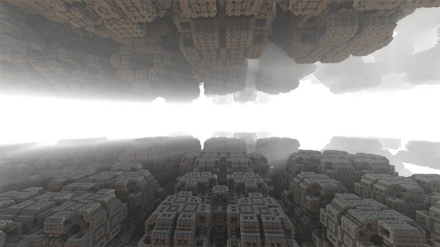 Daily Fractal Wallpaper no15 - Ruins in the Mornin