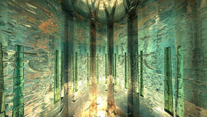 Daily Fractal Wallpaper no16 - Jade Temple by Dr-Pen