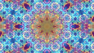 Bright Blue Nebula Mandala
