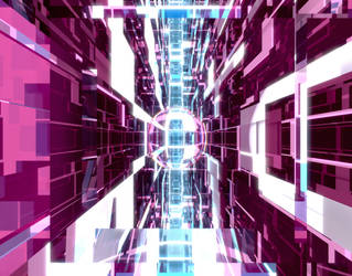 Purple Glass Tunnel by Dr-Pen