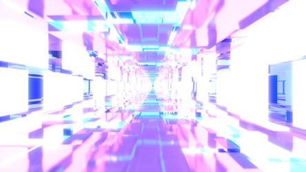 Cyan and Pink Tunnel