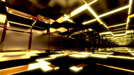 Stark Gold and Black Corridors