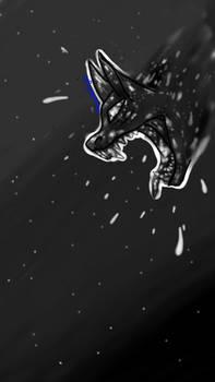 black and white roar