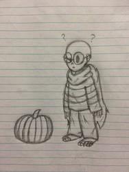 Little Gaster and a pumpkin