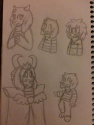 The Dreemurr family sketches
