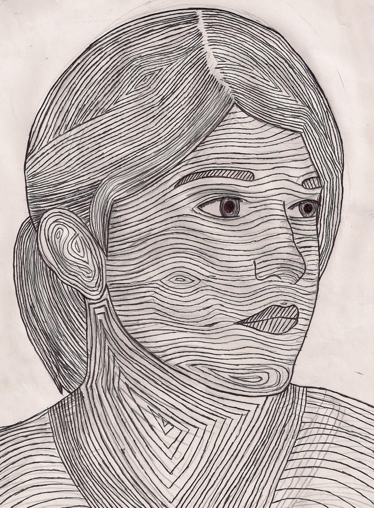 Contour Line Drawing Xp : Contour line portrait by hibari sky on deviantart