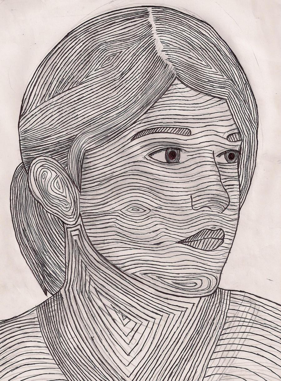 Contour Line Drawing Xp : Contour line portrait by hibari sky on deviantart