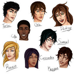 The Spiral Character Headshots by domleer