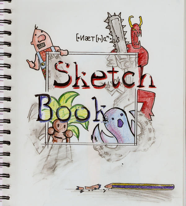 Pretty Book Cover Art : Sketchbook cover page by nattoons on deviantart