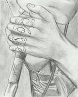 Austin Carlile - screaming + hands by kingforaday98