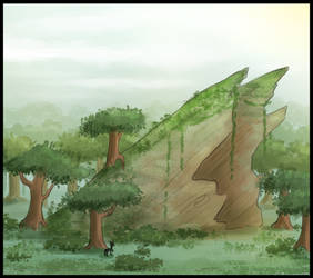 Ancient Elm Grove by Evoloonbot
