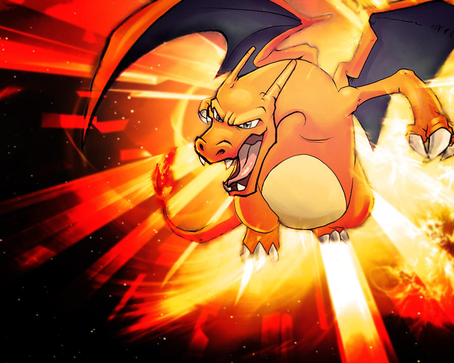 charizard wallpaper by luduie on deviantart