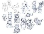 Owl People art trade