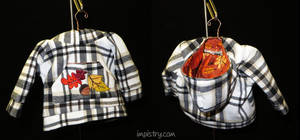 Plaid and Fall themed hoodie