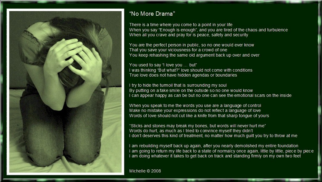 No More Drama by VisualPoetress