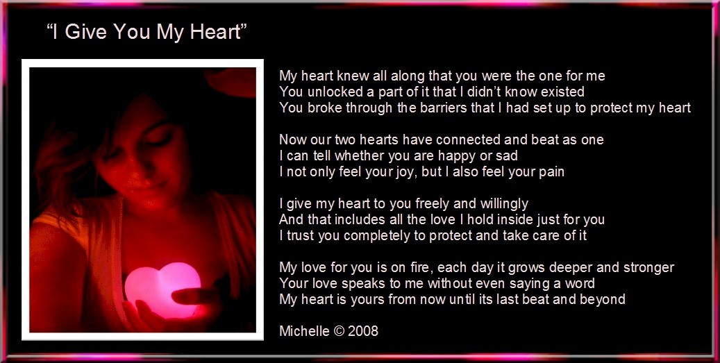 I Give You My Heart by... I Love My Girlfriend So Much Quotes