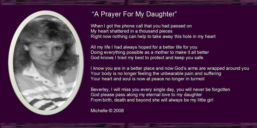 a prayer for my daughter