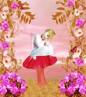 Tiny Angel Sleeping by VisualPoetress