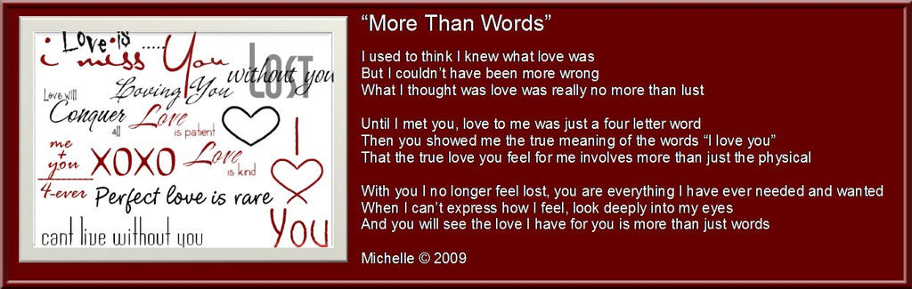 More Than Words By Visualpoetress On Deviantart