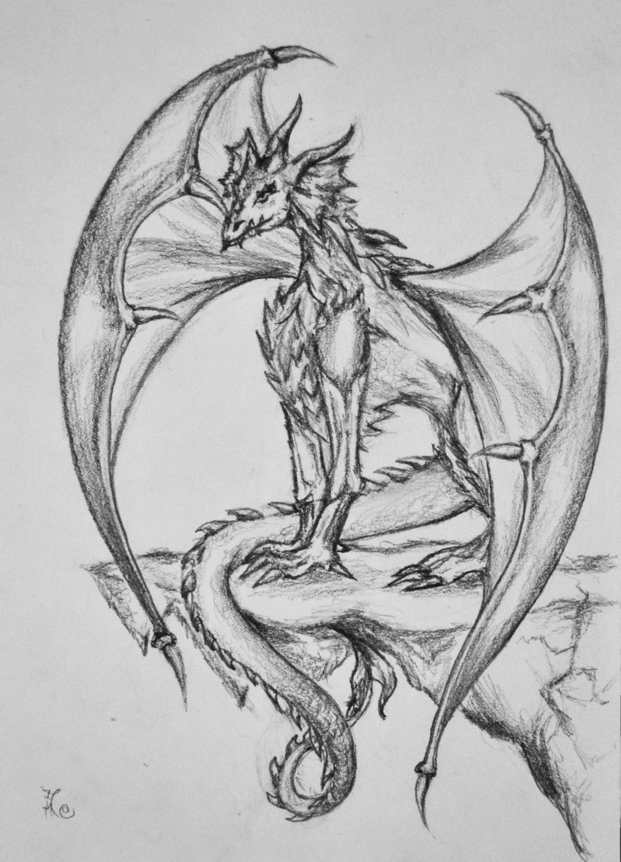 1995 Tattoo Design: Brodie Dragon Tattoo Design By Tsuki-no-Usagi-1995 On