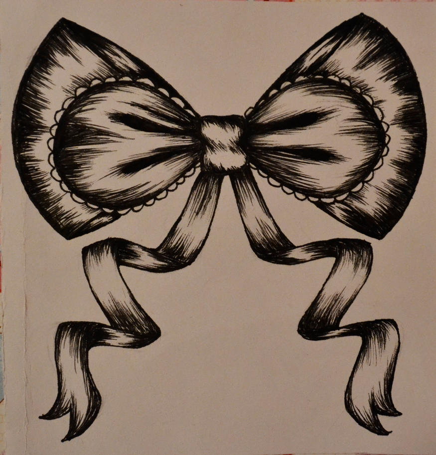 Ribbon Bow Tattoo Design by Tsuki-no-Usagi-1995 on DeviantArt